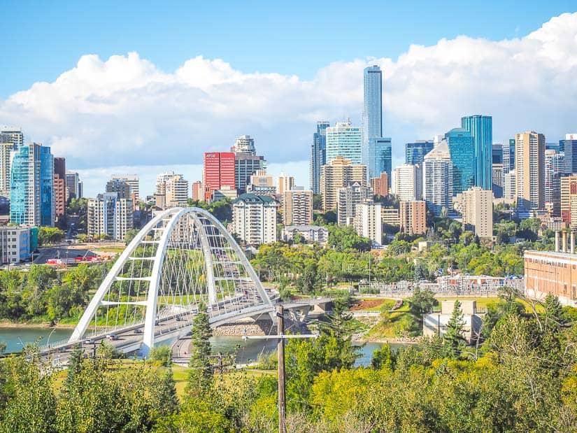 A view of downtown Edmonton