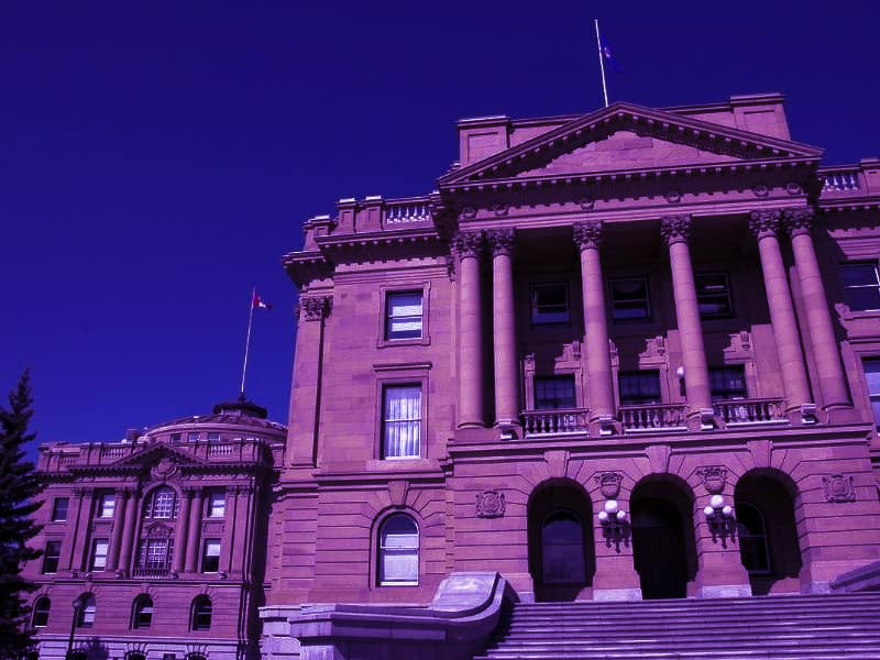 Purple City at Edmonton Legislature Grounds